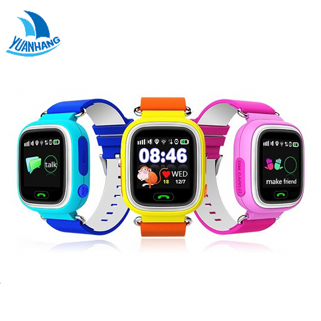 Q90 1.22 HD Touch Screen Smart SOS Call Safe GPS LBS Location Finder Tracker Anti Lost Monitor for Kid Child Watch Wristwatch