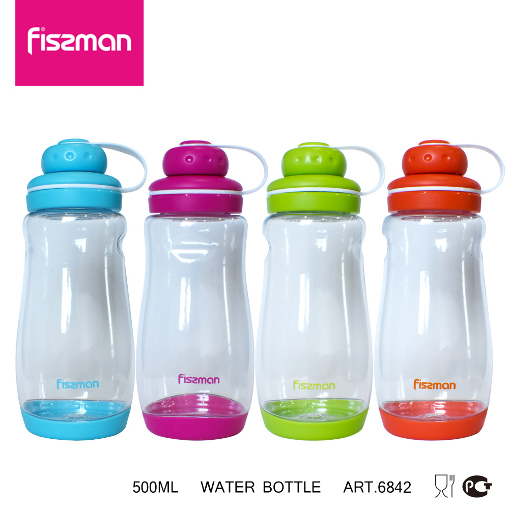 FISSMAN Kid Water Bottles with Lid Rope 500 ml Sports Drinkware Cycling Travel Camping Hiking My Water Bottles