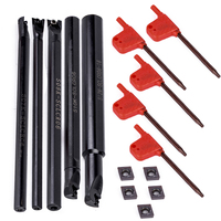 15pcs Set Boring Bar Tool Holder CCMT0602 Inserts With Wrench For Lathe Turning Tools