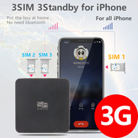 3G Version 3 SIM 3 Standby Box 3 SIM Activate Online at the same time SIMADD for i Phone 6/7/8/X SIM at home ,no need carry