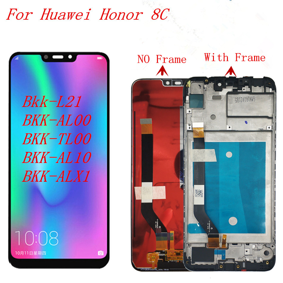 Originale 6.26 LCD Per Huawei Honor 8C Display LCD Touch Screen Digitizer Assembly Per Honor Paly 8C BKK-AL10 LCD con TelaioOriginale 6.26 LCD Per Huawei Honor 8C Display LCD Touch Screen Digitizer Assembly Per Honor Paly 8C BKK-AL10 LCD con Telaio