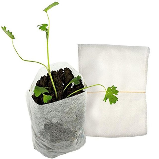 100Pcs Nursery Pots Seed-Raising Bags Non-woven Fabrics Garden Supply 8x10cm flower seedling maceteros plasticos para plantas