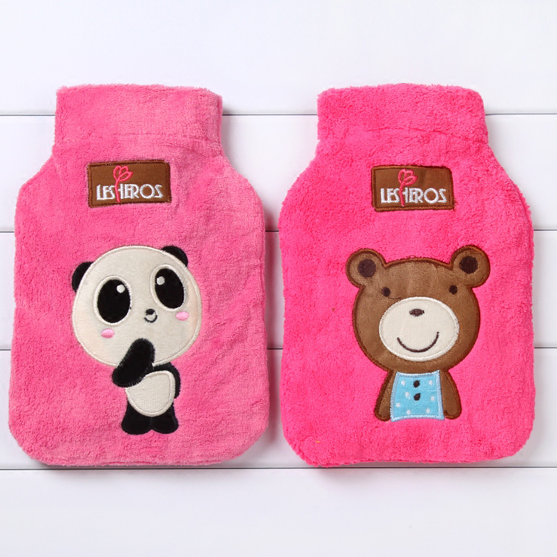 2017 Saim Warming Hot Watter Bag Bottles Mini Bag Cartoon Plush Hand Warmer Bags 1PC Winter Hot Water Bag Water-Filling JJ245