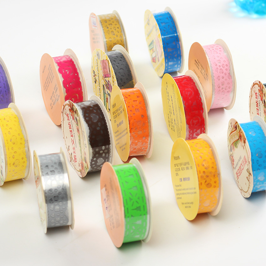 3 pcs diy candy colors hot hot lace tape decoration for Decoration tape