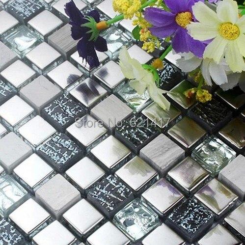 mini stainless steel mosaic mixed stone glass mosaic tiles kitchen backsplash mosaic bathroom shower mosai