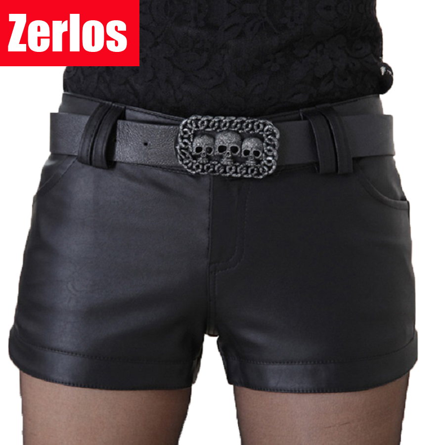 2017 New Women's Fashion PU Leather Shorts Hot Pants Short Feminino Short Saia Pant Women High Quality Short Pant Feminina 369