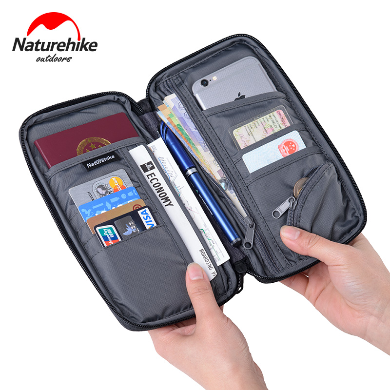 Naturehike Men Women Multiple Family Passport Holder Travel Document Wallet Waterproof Passport Wallet Passport Organizer Case