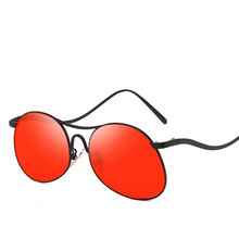 Sun Glasses Personality Leg Metal Frame Sunglasses Male Maam General Purpose