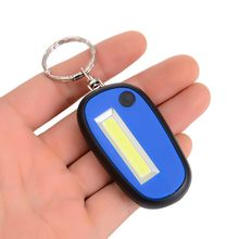 New Green/Red/Orange/Blue Outdoor Mini LED Flashlight Light 2-Mode Lamp Key Chain Ring Keychain Lamp Torch Keyring With Battery(China)