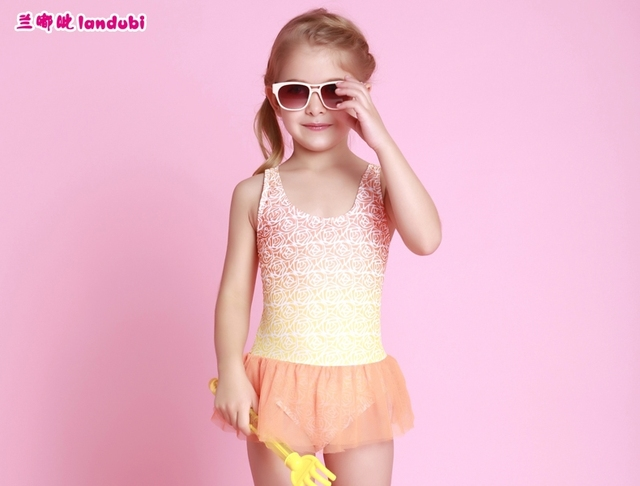 0745c45d04071 2015 rainbow princess cute toddler one piece frozen swimsuit for girls  swimwear child swimming costume baby bathing suit to kids