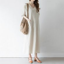 Summer Casual Office Ladies Japan Style Plus Size Women Long Dresses Straight Plain Elegant Korean Female Fashion Maxi Dress