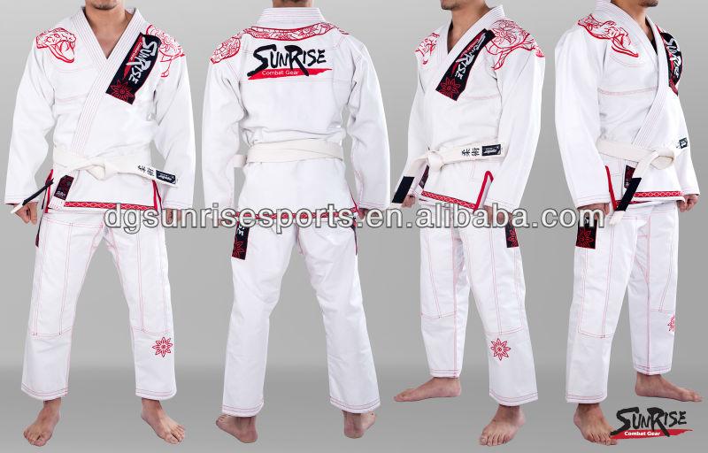 Free Shipping  Brazilian Jiu Jitsu Gi 100% Preshrunk CottonPearl Weave BJJ Gi Kimonos - White