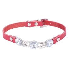 Pretty rhinestone-decorated dog collar/pendant