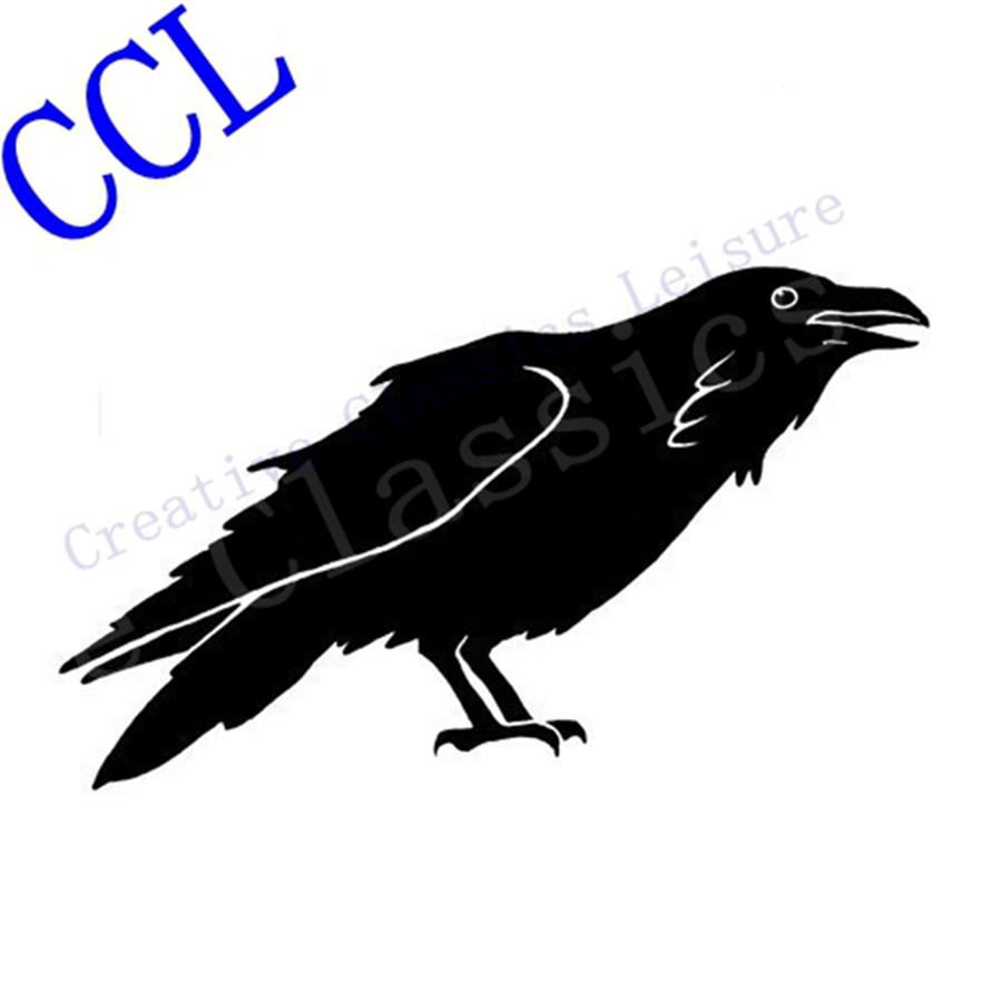 Raven Wall Art Vinyl Decal Sticker , Prim crows decor ...