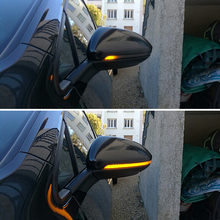 For Vw Mk7 Golf 7 Gti Emark Smoked Side Mirror Sequential Blink Turn Signal Lights Dynamic Led Light Car Styling