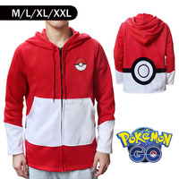 Pokemon Go Ball Designer Winter Warm Coat Sweater Hoodie Thermal Cosplay Cute With Ears For Lovers