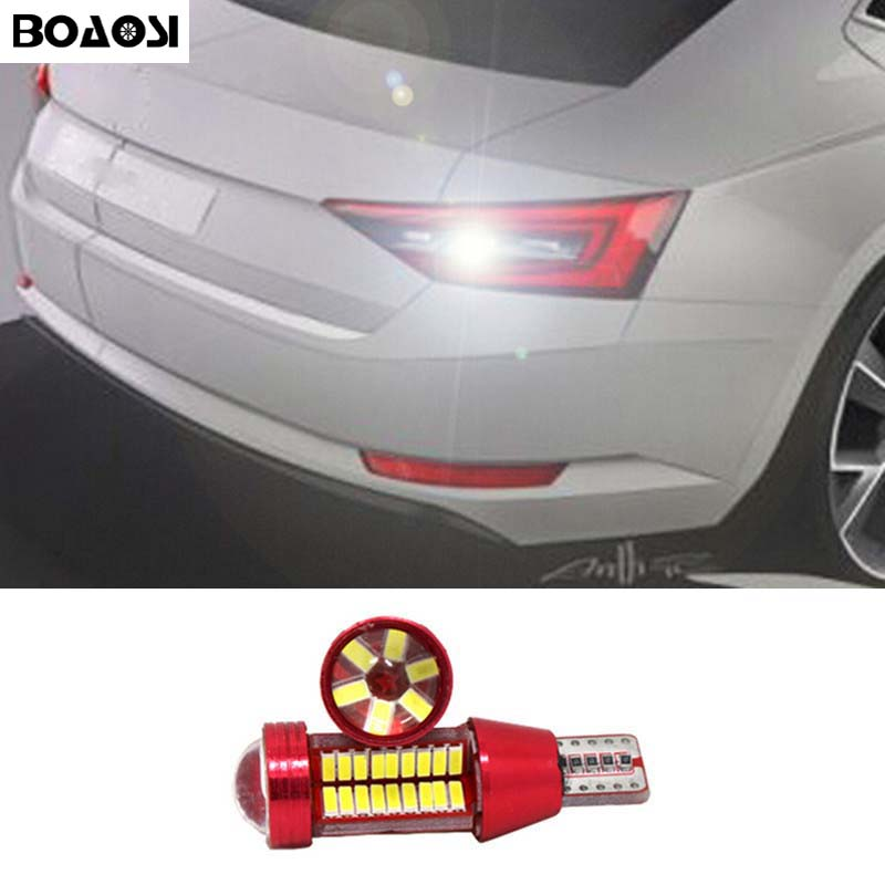 BOAOSI 1x New Upgrade Backup Reverse Light Lamp T15 W16W LED 4014 Chip High Power LED Bulb For Skoda Superb turbo cartridge core gt1549s turbocharger chra for renault trafic ii 1 9 dci f9q 74kw 2000 751768 717345 703245