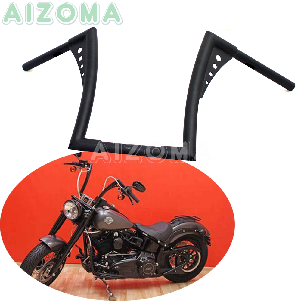 """30 1/2"""" Wide Motorcycle 1 1/4"""" Custom Fat Bar for Harley XL Sportster Dyna Softail FLST FXST 12"""" Rise APE Hanger Handlebars-in Handlebar from Automobiles & Motorcycles    1"""