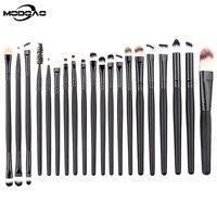 MODOAO 20pcs Set Professional Eye Brushes Eyeshadow Foundation Mascara Blending Pencil Brush Cosmetic Eye Care Tools