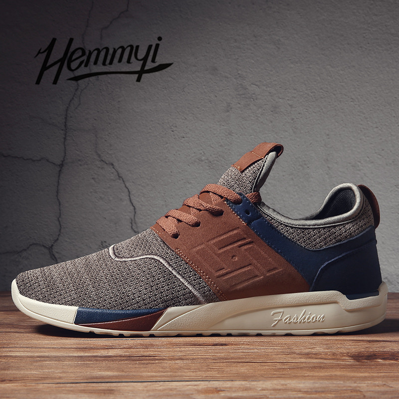 hemmyi new 2018 Spring Summer Men Sneakers Shoes Breathable Wear resistant Casual Light mesh Shoes masculino adulto