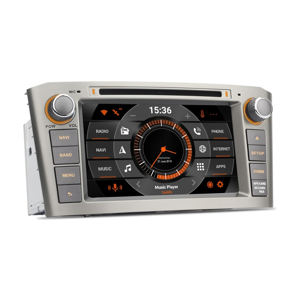 7 hd android auto radio gps for toyota avensis t25 2003. Black Bedroom Furniture Sets. Home Design Ideas
