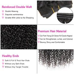 Image 4 - עלי גרייס שיער ברזילאי קינקי מתולתל שיער 1 3 ו 4 חבילות 10 28 inch טבעי שחור 100% רמי אדם מתולתל לארוג שיער חבילות
