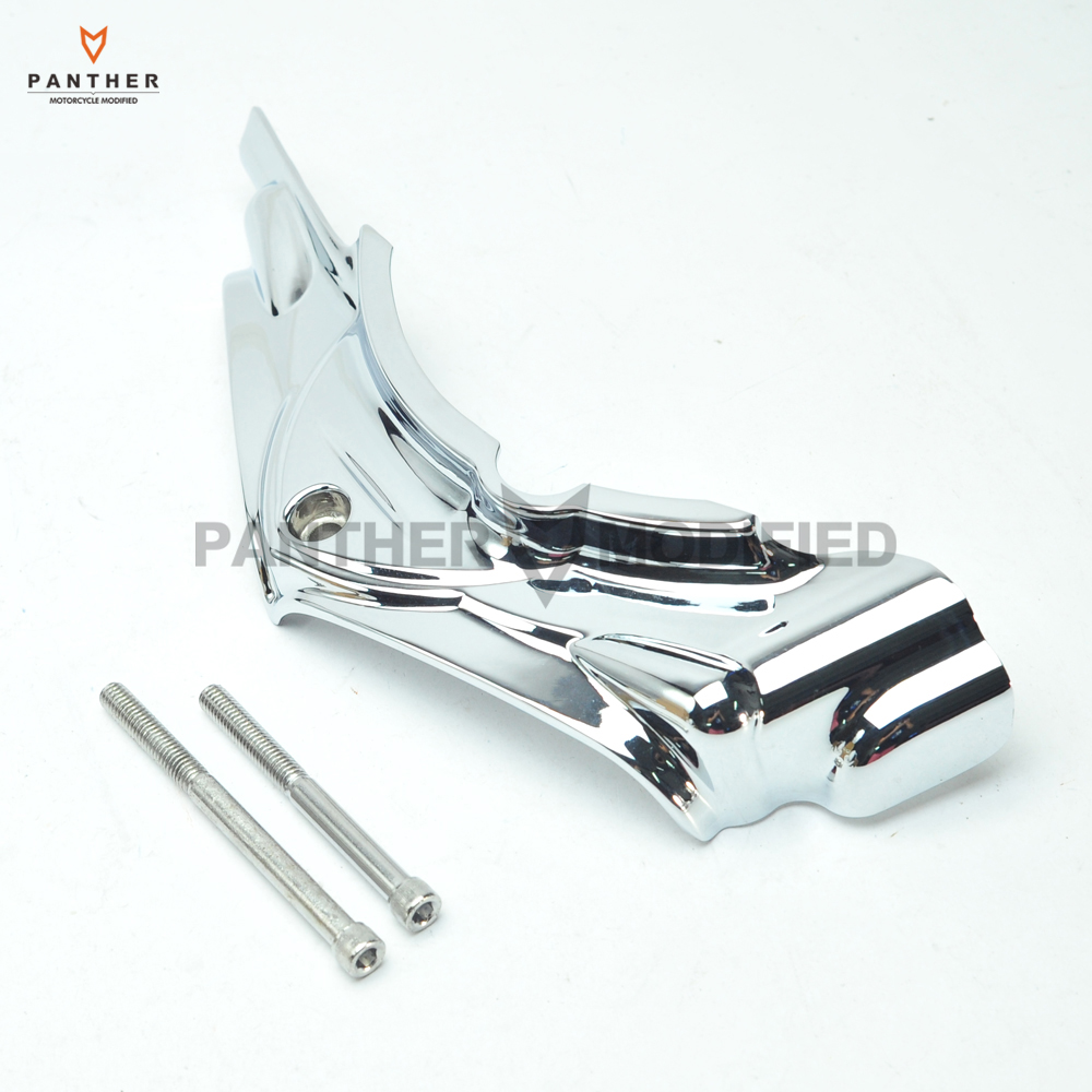 Chrome Motorcycle Cylinder Base Side Covers Moto Frame DIY case for Harley Touring Electra Street Glide 2007-2016