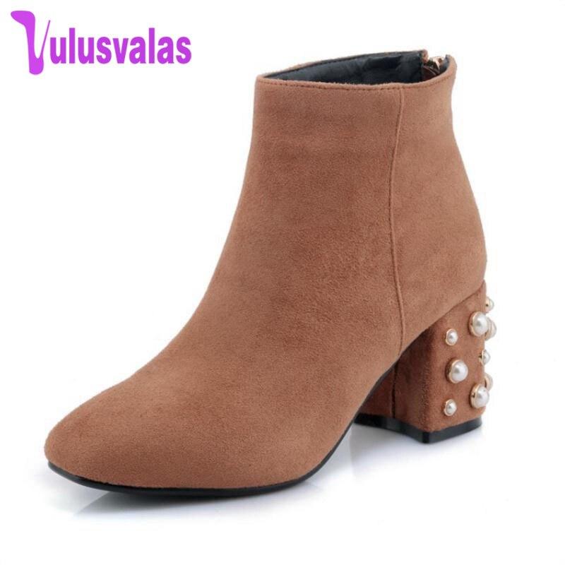 1c1a449cb2ca Épais Taille Vulusvalas Chaussures camel Bottes mollet gris Froid 42 32  Femme Haut Hiver Footwears Perles ...