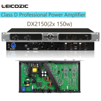 Leicozic DX2150 1u amps class d amplifier 250w rms amps professional audio digital power amplifier audio DJ equipment live sound