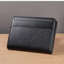 Многофункциональный бизнес портфель папка для документов сумка органайзер A4 из искусственной кожи на молнии с карманом для мобильного телефона
