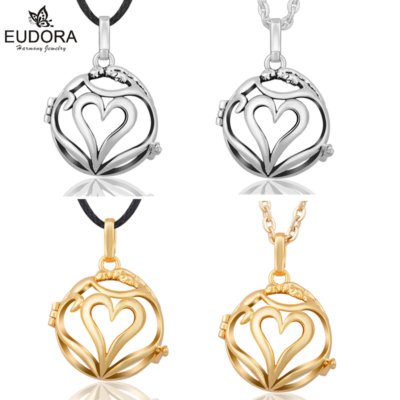 Love Each OtherEudora Harmony Bola Pregnancy Chime Ball Copper Locket Cage Pendant Aromatherapy Lockets Jewelry Pregnant Women