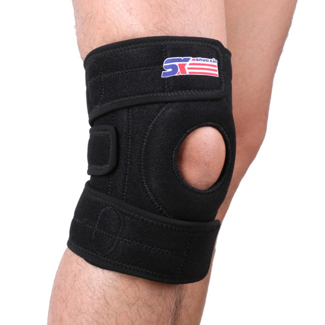 9bcd3cecd1 Free Shipping Adjustable Sports Leg Knee Support Brace Wrap Protector Pads  Sleeve Cap Patella Guard 2 Spring Bars,One Size,Black