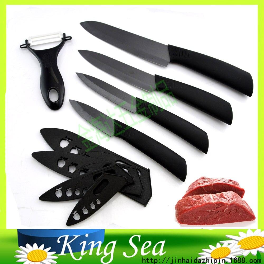 Top qualité cadeaux zircone lame noire poignée noire 3