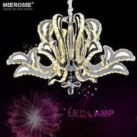 Crystal LED Pendant Lamp Good Quality K9 Cristal LED Pendant Light Lustre Stainless Steel Suspension Blooming Lighting MD81271