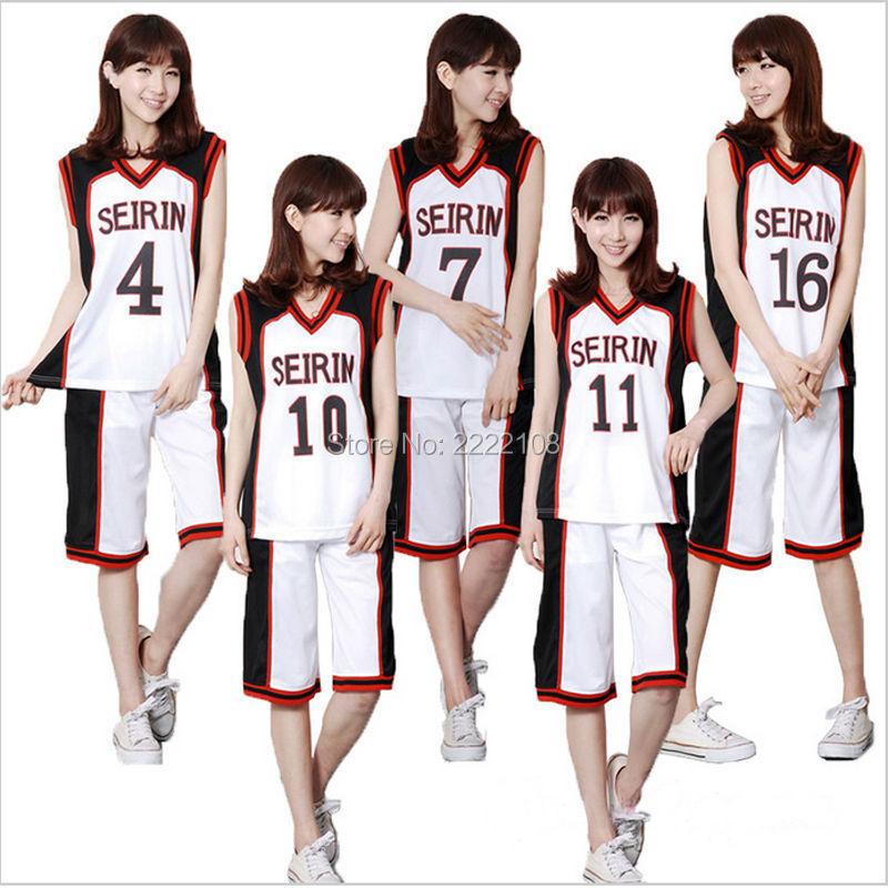 Anime Kuroko no Basuke Seirin Kuroko Basket ball Tetsuya Kagami Taiga Hyuga Junpei Cosplay Costume Uniform sportsuit Jersey Set