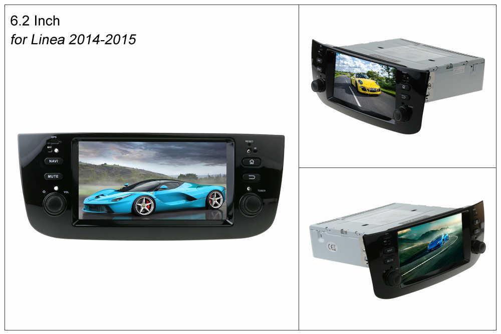 Sinosmart 2/4G Ram 4/8 Core CPU Mobil GPS Navigasi Pemain untuk LINEA Fiat Punto EVO Grande Punto 2007-2015 dengan CANBUS