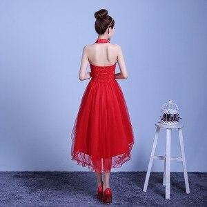 Image 3 - ZX D48ZS #2019 neue sommer kurze, lange bevor nach shortparagraph eine braut brautjungfer kleider hochzeit kleid weibliche toast Rot lila