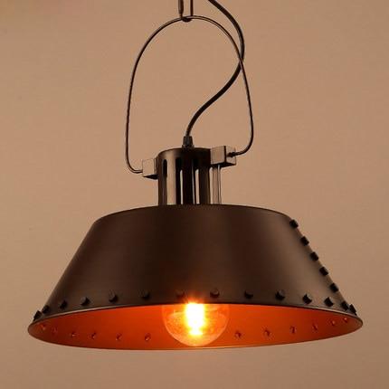 Loft Style Pendant Light Creative Rivet Vintage Lamp Metal Iron Lighting Bar
