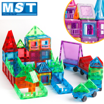 72 szt Płytki magnetyczne budowlane duże bloki magnetyczne stałe 3D blok magnetyczny zabawki budowlane dla dzieci cegły tanie i dobre opinie Mini Tudou Z tworzywa sztucznego 7-9Y 13-14Y 14Y 4-6Y 2-3Y 10-12Y 72PCS Magnetic Tiles