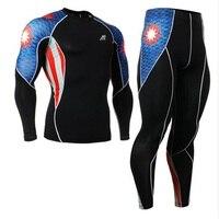 Men S Sportswear Clothes Set Compression Pants Sports T Shirt Long Sleeve 4 Way Stretch C2L