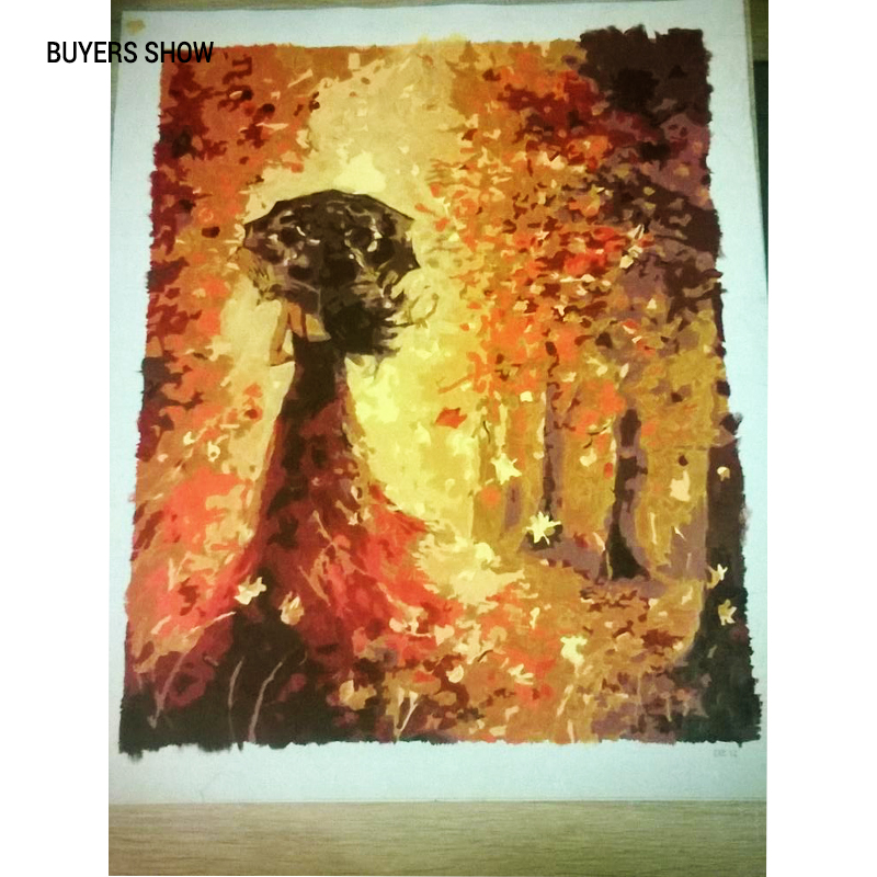 CHENISTORY Beautiful Women Autumn Landscape DIY Painting By Numbers Kits Coloring Paint By Numbers Modern Wall CHENISTORY Beautiful Women Autumn Landscape DIY Painting By Numbers Kits Coloring Paint By Numbers Modern Wall Art Picture Gift