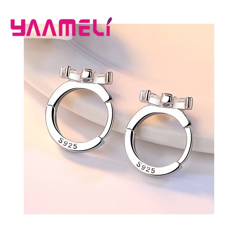 Beautiful Flowers Composition Cubic Zirconia Girls Women Gift Good Quality 925 Sterling Silver Stud Earrings Jewelry 2