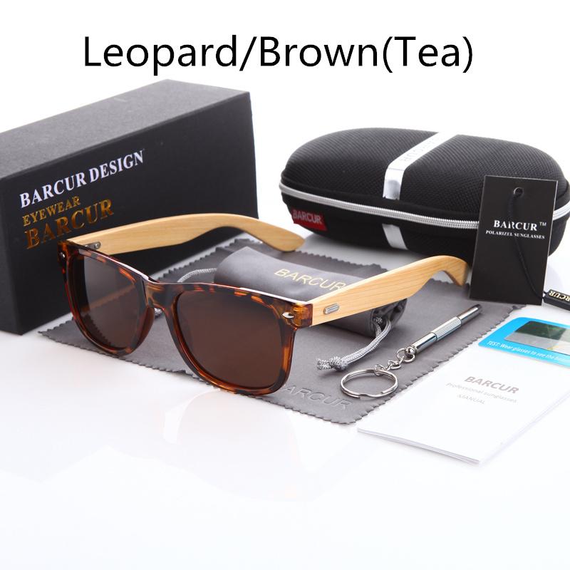 نظارة شمسية للرجال وللسيدات بعدسات بلورايزد واطار خشبي 6
