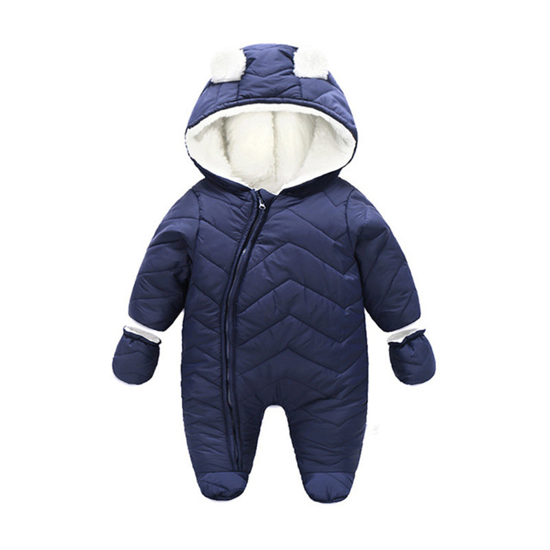 Winter Baby Warm Rompers Toddler Ski Suit Clothing Newborn Costume Boys Cotton Padded Jumpsuits Cute Girls Overalls Clothes P145 winter baby rompers bear girls boys clothes hooded baby boys rompers cotton padded jumpsuits infants kids winter clothes