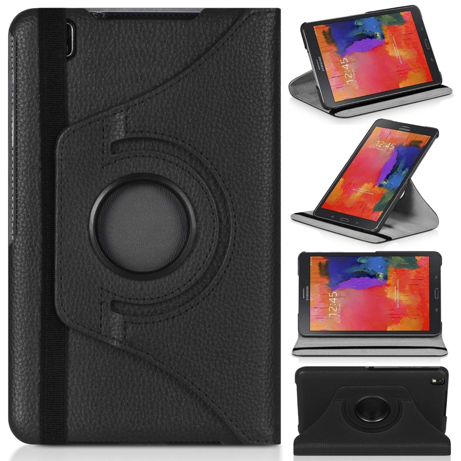360 Rotating Flip Case Stand Leather Cover For Samsung Galaxy Tab Pro 8.4 T320 T325 Tablet PC Cases Covers for Samung T320 T325 image