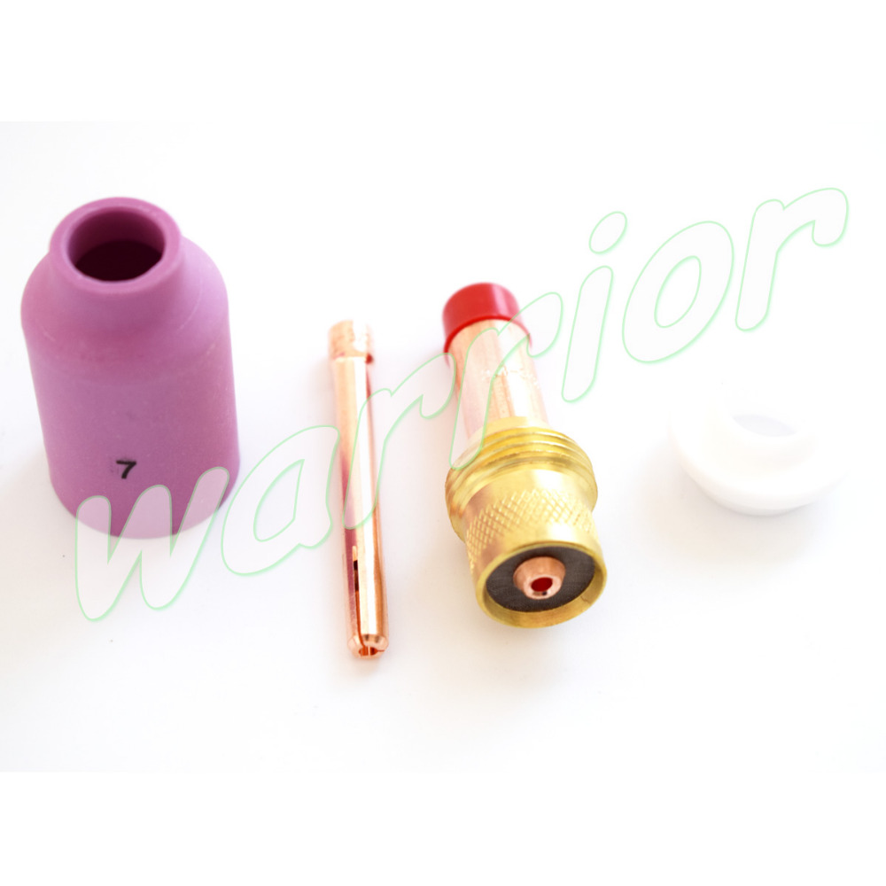#7 Tig Gas Objektiv Kit Düse Gas-objektiv Körper Spannzange 54n01 Für Schweißbrenner Pta Db Sr Wp17 18 26 Direktverkaufspreis