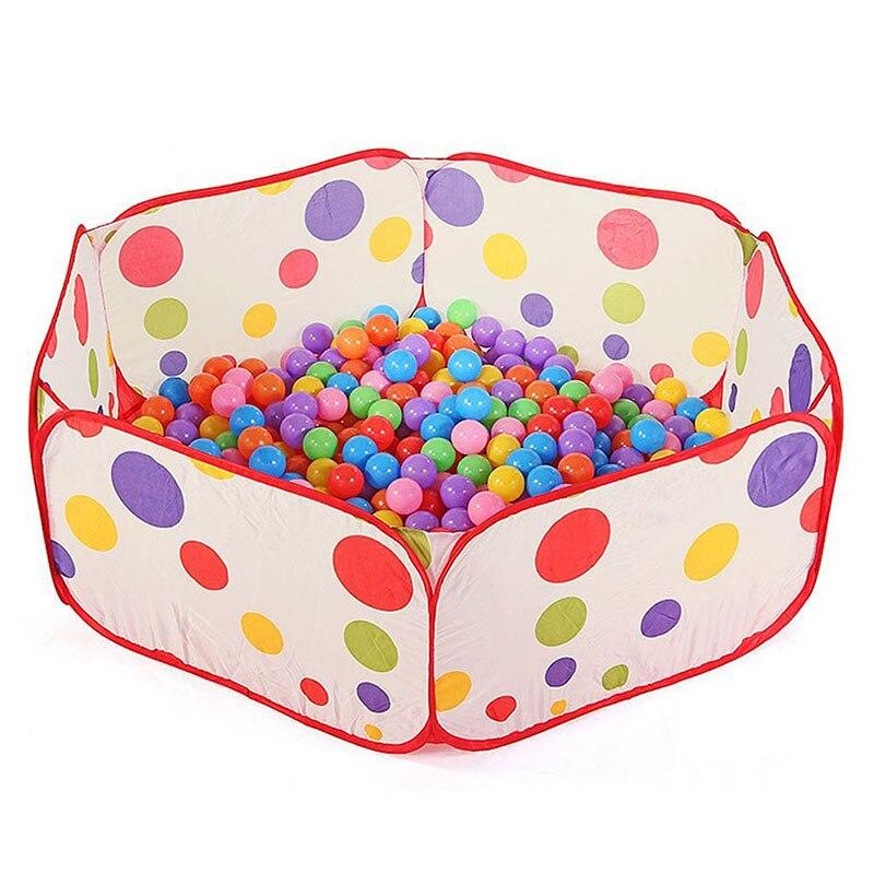 Portable Enfants Piscine Enfants En Plein Air Intérieur Jeu Polka Dot Bébé Jouet Océan Piscine À Balles (Sans boules) TY