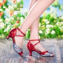 fashion summer out sole women's soft dance shoes square sandals waltz lady shoes