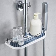 Прямоугольник Ванная комната Полки Шампунь поддон душевой стеллаж для хранения держатель одного уровня Насадки для душа Держатель Аксессуары для ванной комнаты