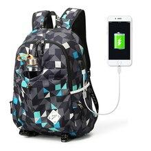 College Waterproof Backpack Student Nylon School Bags Rucksa
